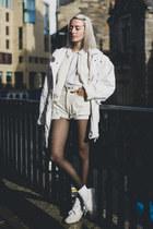 white parka vintage coat - white bomber H&M Trend jacket