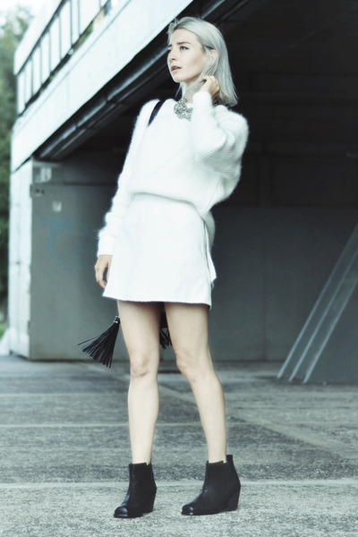 tassel H&M bag - suede H&M Trend boots - angora blend H&M Trend jumper
