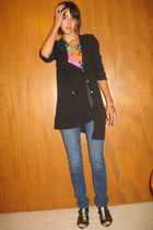 vintage t-shirt - richard chai sweater - Maurices jeans - gojanecom shoes