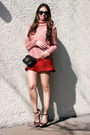 Crimson-guess-shoes-coral-zara-sweater-black-michael-kors-bag