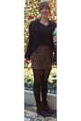 Vintage-boots-le-chateau-jacket-sheer-black-forever-21-shirt