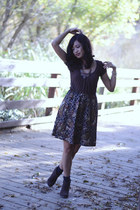 Forever 21 blouse - Qupid boots - vintage skirt