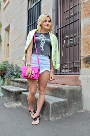 charcoal gray Zu Shoes sandals - lime green Topshop jacket