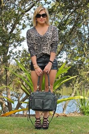 Aje bag - Valleygirl sweater - black Neon Hart shorts - Zu Shoes heels