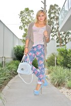 periwinkle Dotti jeans - white Mimco bag - light pink Miss Shop top