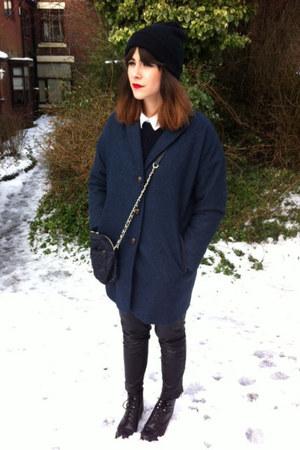 navy Topshop coat - black Topshop boots - black Topshop jeans