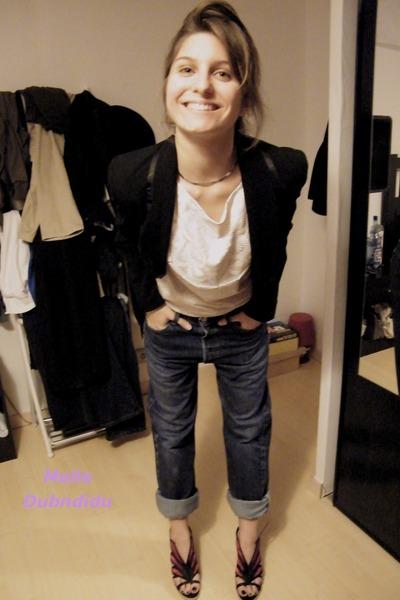 Size accessories - mellow yellow shoes - Levis jeans - Printemps blazer - Mango
