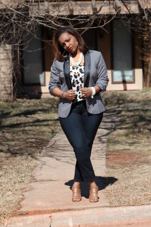 METROSTYLE blazer - Michael Kors pumps - thrifted blouse - loafers