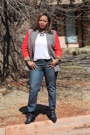 Cremieux blazer - BCBG shoes - Charlotte Russe jeans