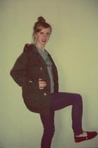 Topshop jacket - denim H&M jeans - TK Maxx t-shirt - TOMS flats