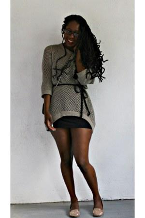 studded Dolce Vita flats - crotchet WDNY sweater