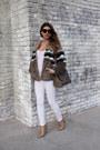 White-denim-zara-jeans-light-brown-faux-fur-pull-bear-jacket
