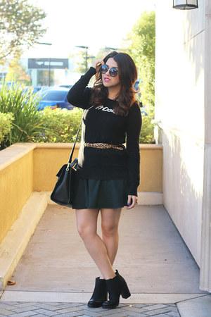Target boots - Target sweater - Target purse - Aldo sunglasses - Target skirt