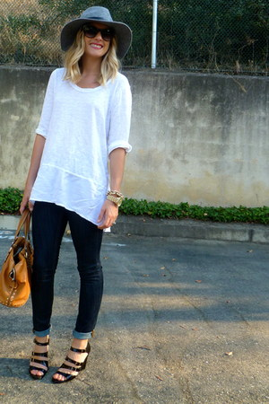 Target hat - Urban Outfitters jeans - Anthropologie shirt - Michael Kors bag
