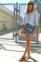 JCrew shirt - JCrew bag - Anthropologie shorts - Gap sandals