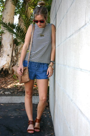 Jcrew bag - madewell shirt - Jcrew shorts - Jcrew sandals