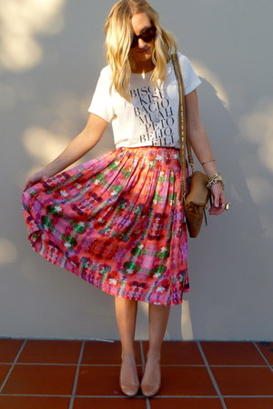 asos skirt - JCrew shirt - J Crew bag - JCrew wedges