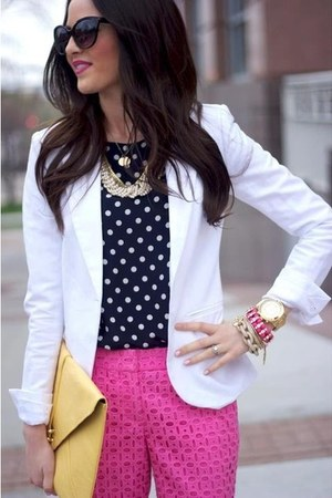 blazer - pants - top