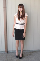 ruffled H&M blouse - pencil skirt H&M skirt