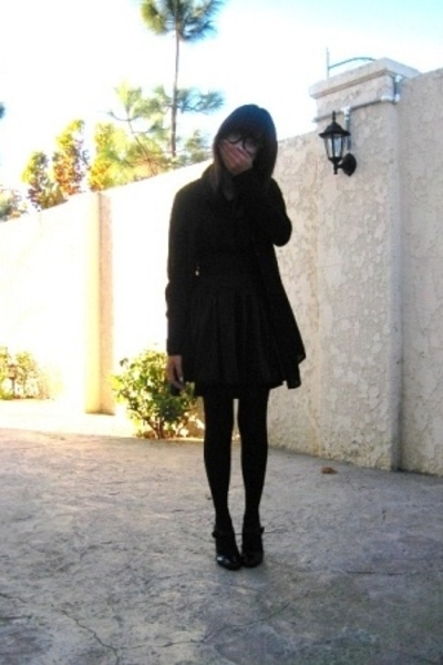 No label glasses - Forever21 blouse - Forever21 skirt - H&M jacket - Old Navy st
