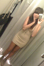 beige Forever 21 dress - brown H&M shoes