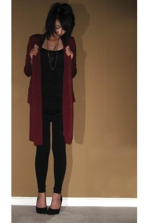 forever 21 jacket - H&M dress - Phoenix leggings - Aldo shoes