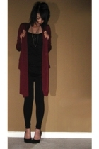 forever 21 jacket - H&M dress - Phoenix leggings - Aldo shoes