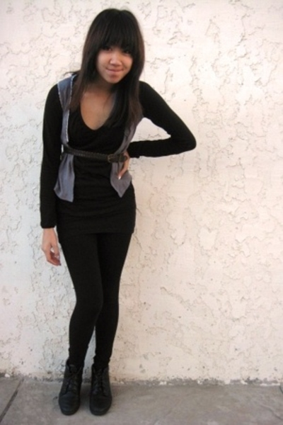 forever 21 shirt - Target vest - vintage belt - forever 21 skirt - forever 21 le