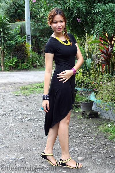 black SM GTW dress - chartreuse Ferretti flats - hot pink Eton watch