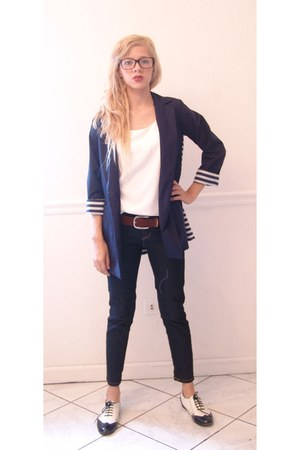 Steve Madden shoes - back to basics jeans - back to basics blazer - vintage from