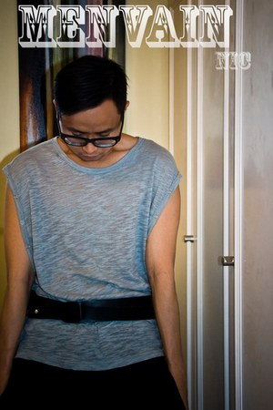 Melinda Looi top - leather Manvious belt - leather Jonathan Cheng accessories