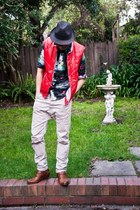 ben sherman shirt - Topman pants - handmade Sagawa Fujii glasses - vintage vest