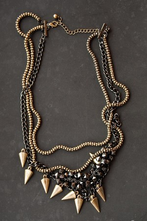 chains spikes Philosophy necklace