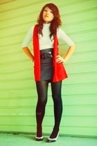 shirt - vest - Forever21 skirt - stockings - shoes