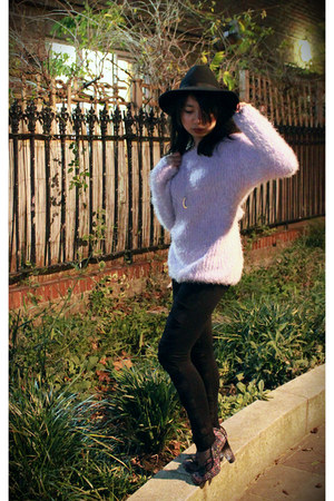 light purple DressLink jumper - black River Island hat - Irregular Choice heels