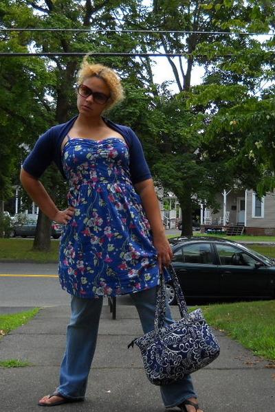 Blue Sun Dress Jeans Vera Bradley Bag