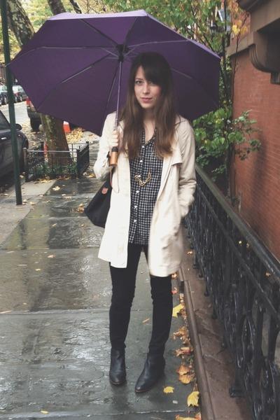 sam edelman boots - H&M jacket - madewell shirt - madewell necklace