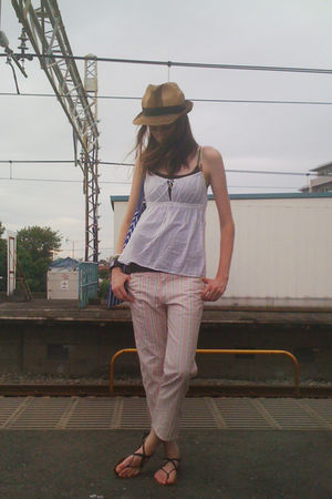 pink vintage Zucca pants - brown Beams hat