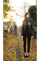 black JBrand jeans - black Zara jacket - black Melissa shoes