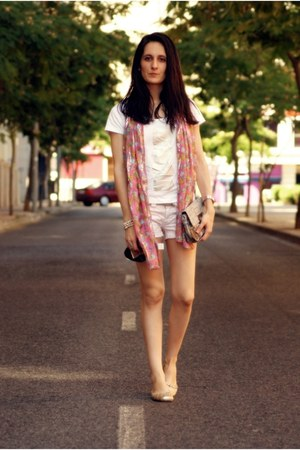 angel schlesser shirt - united colors of benetton bag - Bershka shorts
