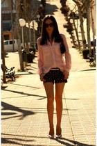 BLANCO shorts - BLANCO shirt - Bershka heels