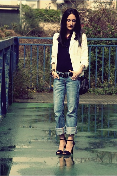 Zara heels - Bershka jeans - Mango blazer
