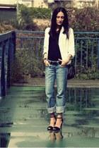 Zara heels - Bershka jeans - Mango blazer