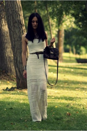 Stradivarius dress - BLANCO bag