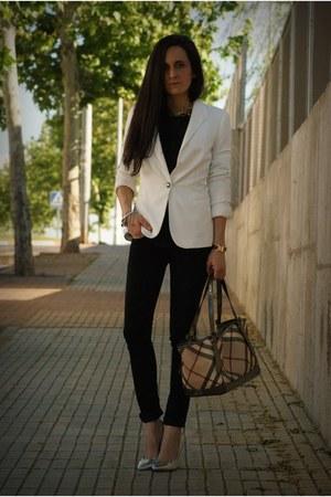 Zara blazer - Burberry bag