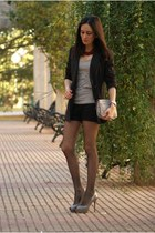 blazer - bag - heels