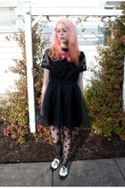 modcloth dress - tabbi socks tights - Flapper Girl tie - kohls flats