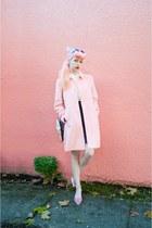 pink pom pom asos heels - white black and white kling dress