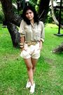 Beige-banana-republic-blouse-beige-vintage-shorts-beige-bonbons-shoes