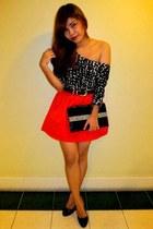black Aldo shoes - black H&M dress - black Passed on from Grandma purse - red H&